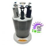 UV carousel for micropipettes